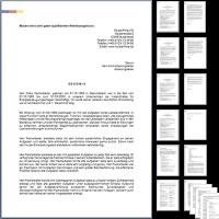 4 x Arbeitszeugnis: Büroangestellte - 16 Seiten