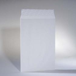 Weiße Versandtasche C4 ohne Kartonrücken