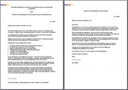 Referenzschreiben: 3 x Referenzen von Vorgesetzten an Volontäre
