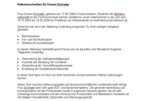Bewerbungsmappen im Bewerbungsshop24.de | Referenzschreiben: 3 x ...